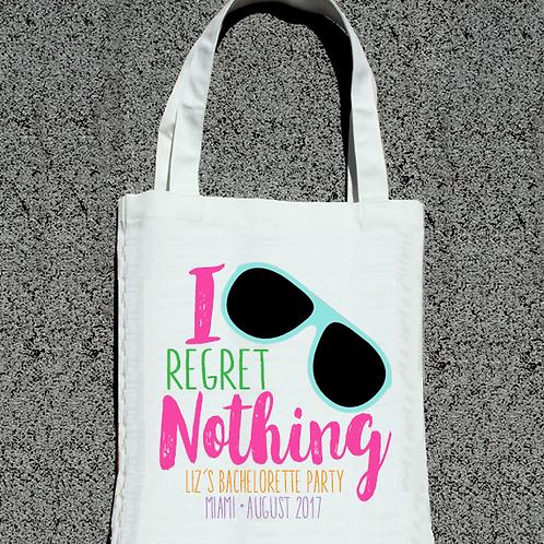 No Regrets I Regret Nothing Funky Bachelorette Tote Bag