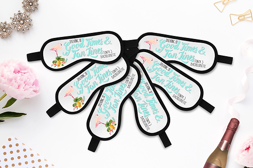 Good Times And Tan Lines - Personalized Sleep Mask - Bachelorette Party Favors