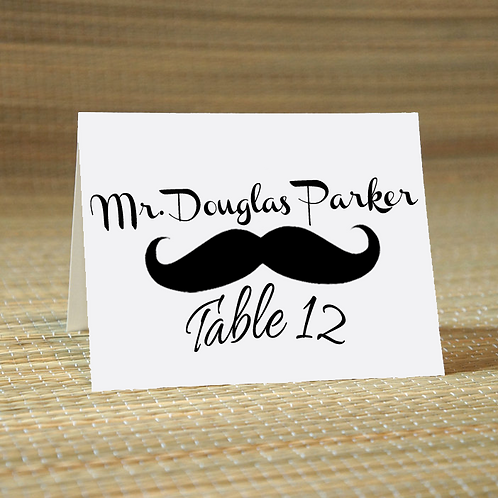 Personalized Wedding Place Card -The Stash