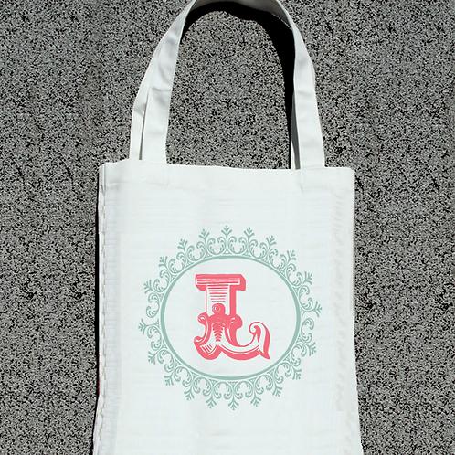 Wedding Monogram -Bridal Party Tote Bag
