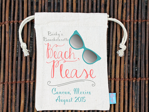 Beach Please -Bachelorette Hangover Favor Bag