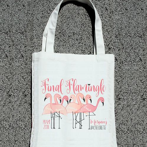 Final Flamingle Last Flamingle Flamingo Bachelorette Tote Bag