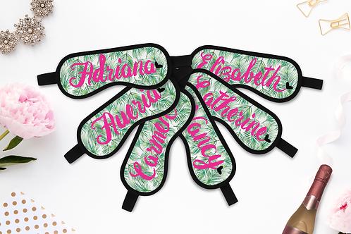 Tropical Personalized Sleep Masks - Personalized Sleep Mask - Bachelorette Party