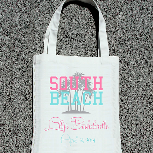 South Beach Bachelorette Party Tote Bag