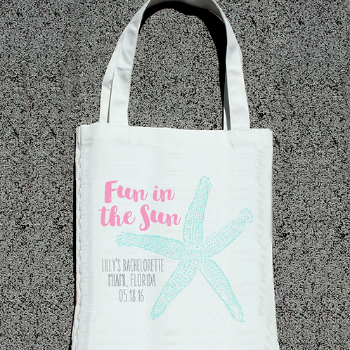 Fun in the Sun Beach Bachelorette Tote Bags