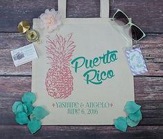 Puerto Rico Destination Wedding Tote Bag