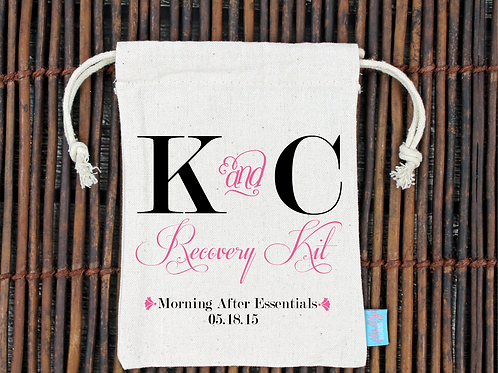 Fancy Recovery Kit -Wedding Welcome Favor Bag