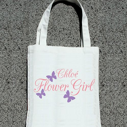 Butterfly Flower Girl -Bridal Party Tote Bag