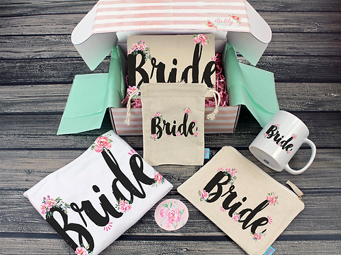 Funky Floral Bride Gift Box Bride Box, Engagement Box, Bride to Be Gift