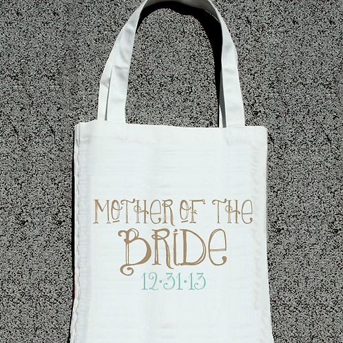 Personalized Mother of the Bride- Wedding Tote Bag