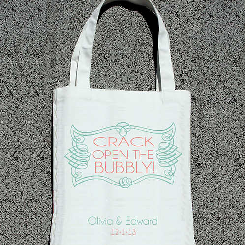 Crack Open The Bubbly - Wedding Welcome Tote B