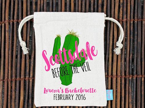 Scottsdale Before the Veil Bachelorette Hangover Kit Favor Bag