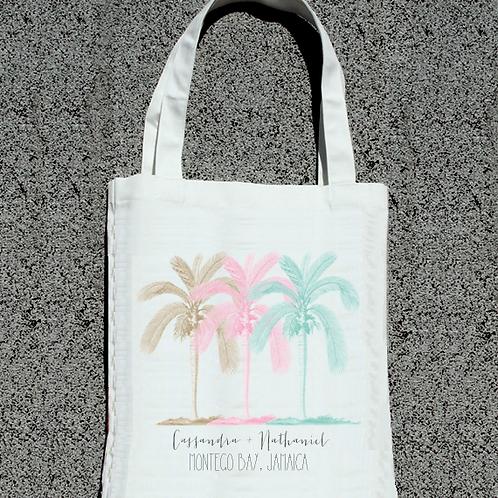 Multi Palm Tree Destination Wedding Tote Bag