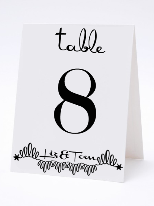 Wedding Table Number- The Danielle