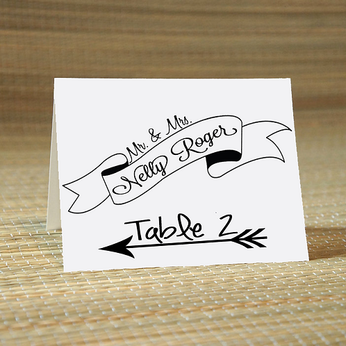 Personalized Wedding Place Card -The Steph
