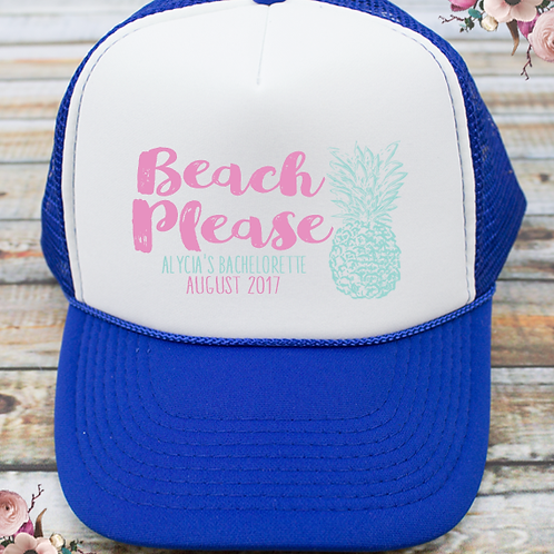 Beach Please Beach Bachelorette Party Trucker Hat