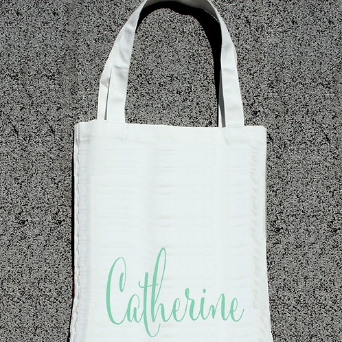 Personalized Funky Bottom- Bridal Party Tote Bag
