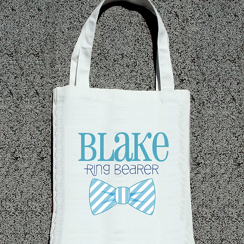 Ring Bearer Bow -Bridal Party Wedding Tote Bag