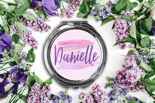 Chic Personalized Compact Mirror -Bridesmaid Bridal Pa