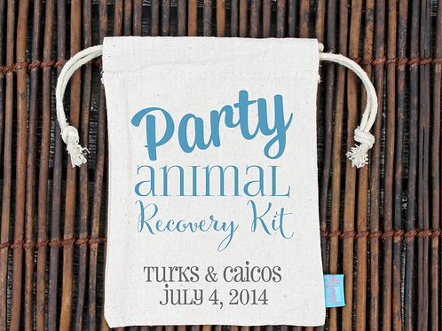 Party Animal Recovery Kit -Wedding Favor Bag