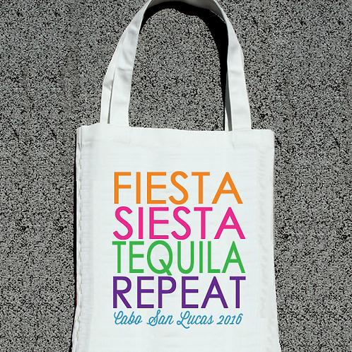 Fiesta Siesta Tequila Colorful Bachelorette Tote