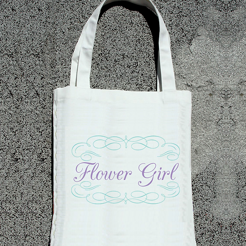 Fancy Flower Girl -Bridal Party Tote Bag