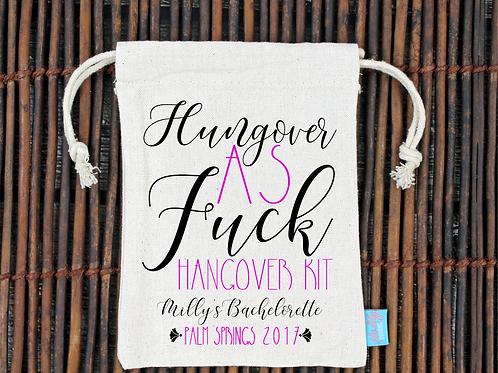 Hungover As Fuck Bachelorette Hangover Kit Favor Bag