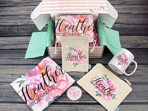 Bridesmaid Proposal Box – Personalized Bridesmaid Gift - Will You Be My