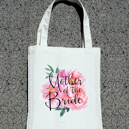 Floral Watercolor Mother of the Bride - Wedding Tote Bag