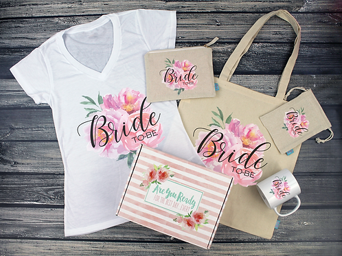 Floral Bride to Be Gift Box Bride Box, Engagement Box, Bride to Be Gift