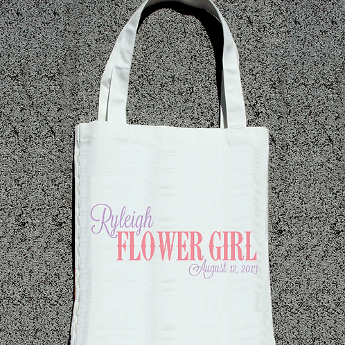 Country Flower Girl -Bridal Party Tote Bag
