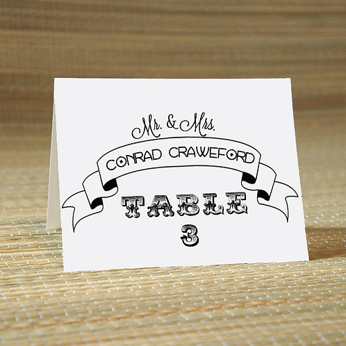 Personalized Wedding Place Card -The Billy