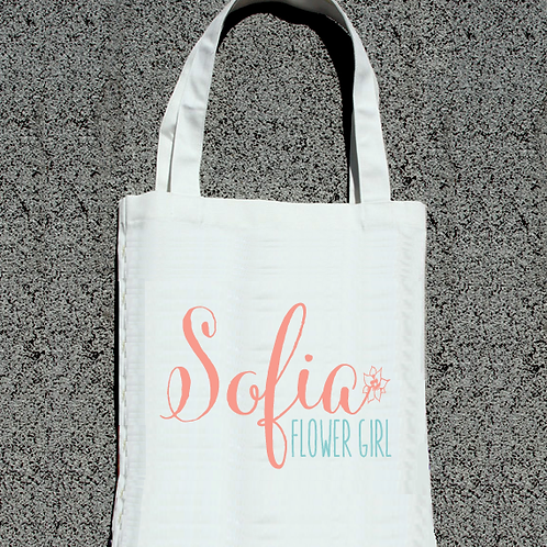 Dainty Flower Girl -Bridal Party Tote Bag