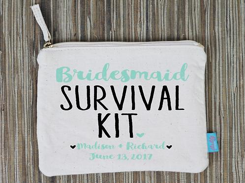 Bridesmaid Survival Kit Bridal Party Makeup Cosmetic Bag