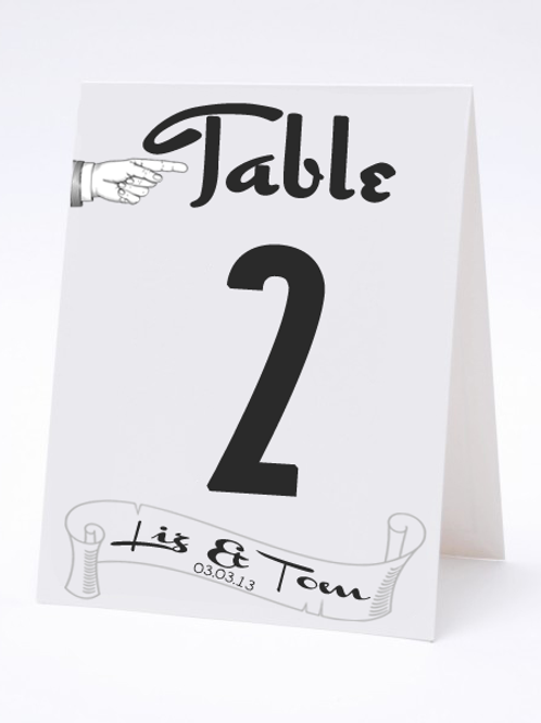 Wedding Table Number- The Point