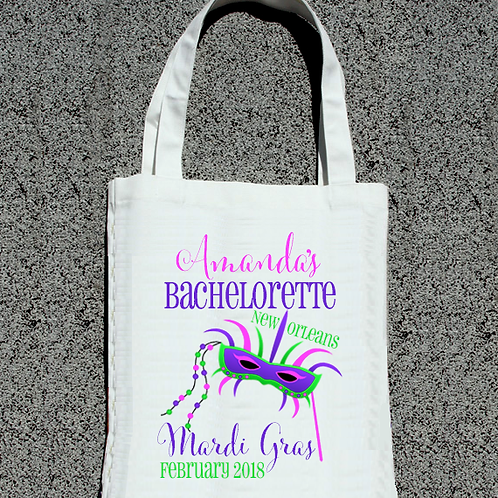 Mardi Gras NOLA Bachelorette Party Tote Bag