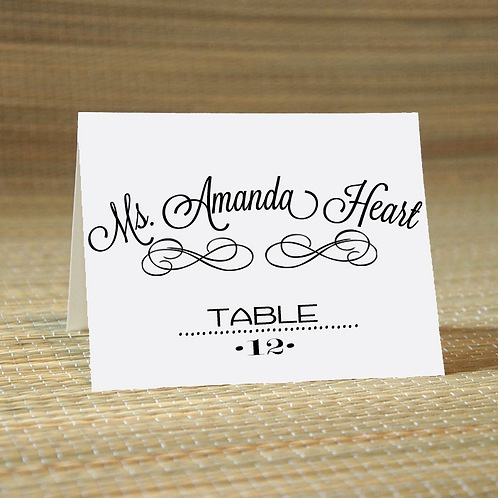 Personalized Wedding Place Card -The Scarlet