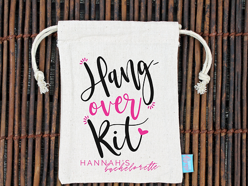 Hangover Kit Bachelorette Hangover Favor Bag