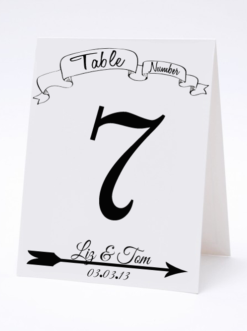Wedding Table Number- The Britt