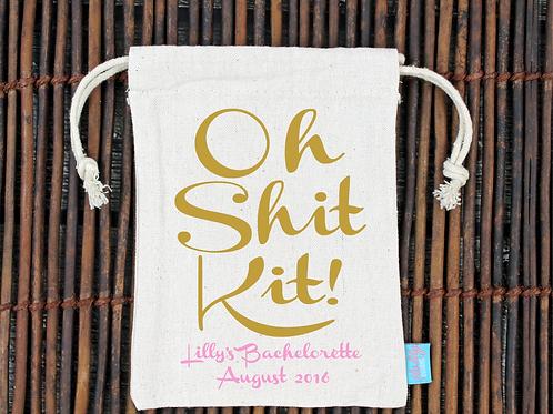Fancy Oh Shit Kit Bachelorette Hangover Favor Bag
