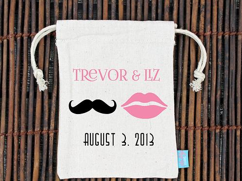 Mr & Mrs -Stach + Lips Wedding Welcome Favor Bag