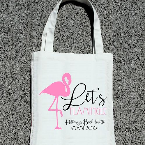 Lets Flamingle Fancy Bachelorette Tote Bag
