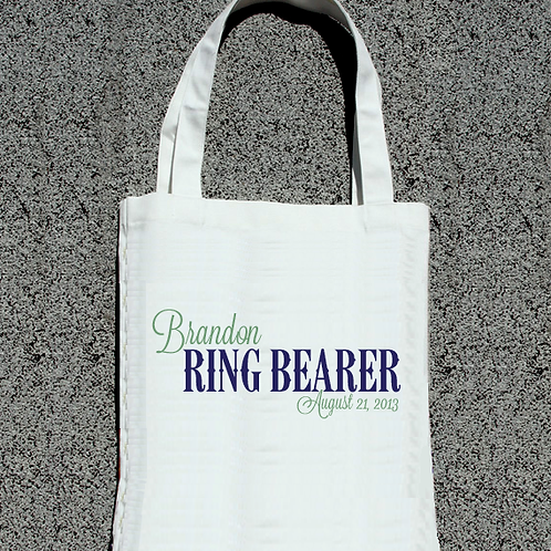 Ring Bearer Personalized -Wedding Party Tote Bag