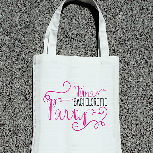 Fancy Bachelorette Personalized Tote Bag