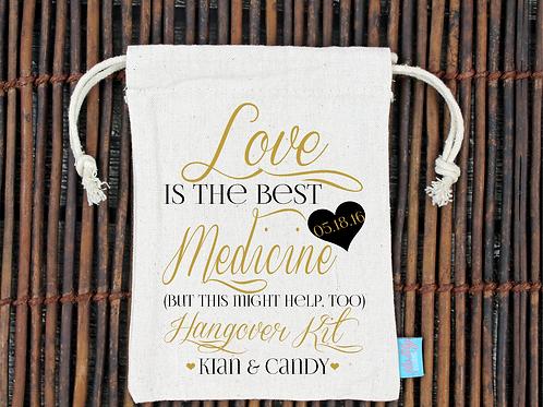 Fancy Love Is Best Medicine -Wedding Favor Bag