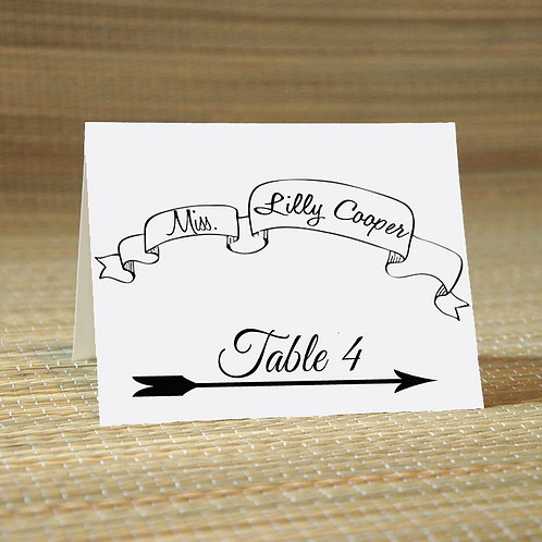 Personalized Wedding Place Card -The Britt