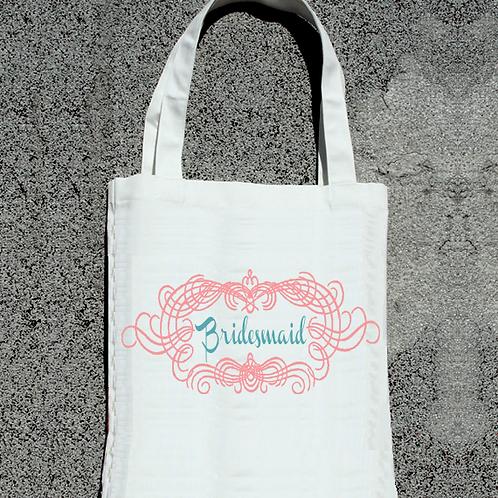Framed Bridesmaid Wedding Tote Bag