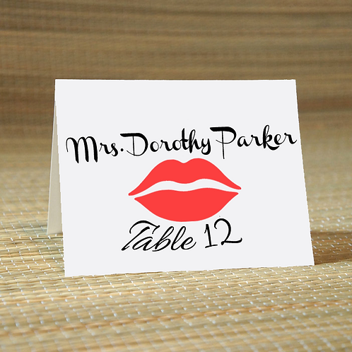 Personalized Wedding Place Card -The Hilary
