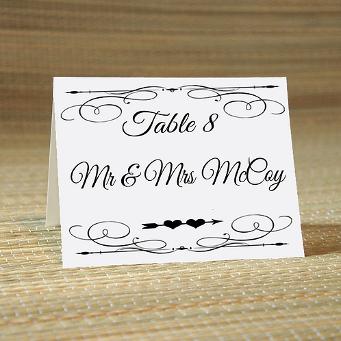 Personalized Wedding Place Card -The Sweetheart