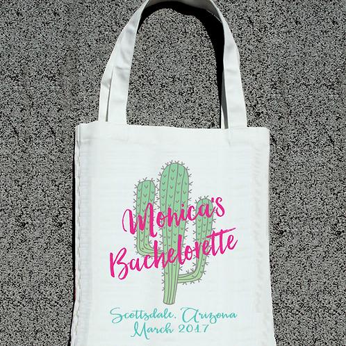 Arizona Scottsdale Bachelorette Cactus Bachelorette Tote Bag